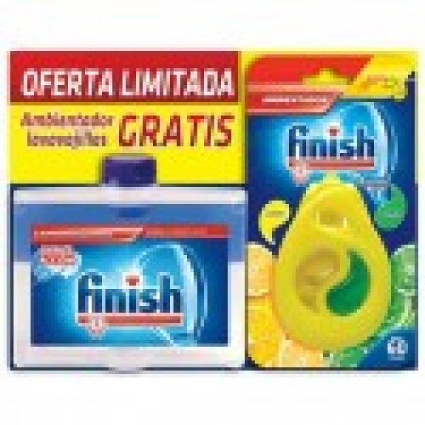 Finish limpia maquinas 250ml + ambientador limon